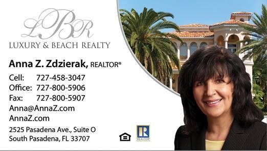 Anna Z. Zdzierak - Realtor at Luxury & Beach Realty 2525 Pasadena Ave., Ste. O, South Pasadena, FL 33707