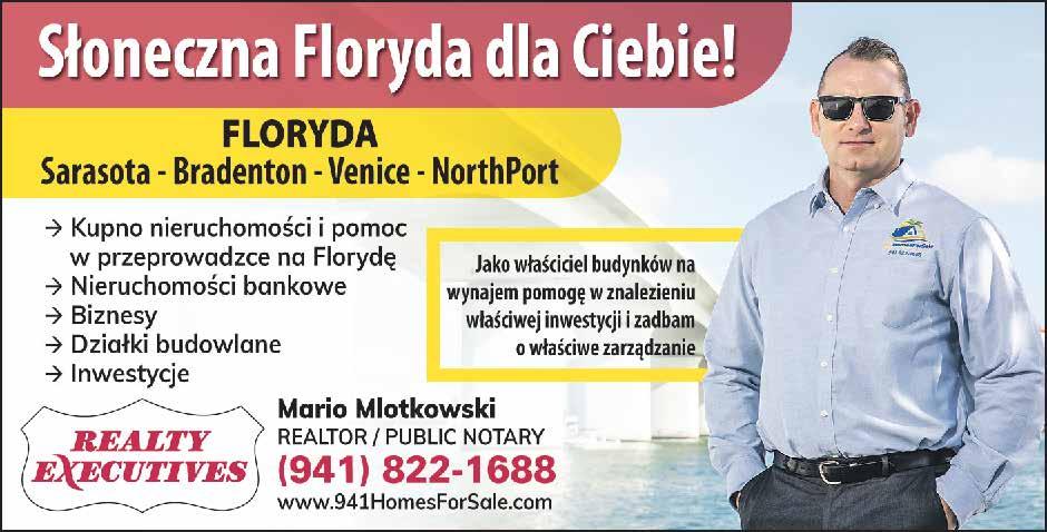 Mario Mlotkowski, Polish, Realtor, Notary Public, Sarasota, Bradenton, Venice, North Port, Florida