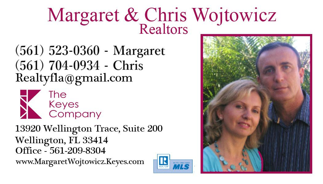 Margaret and Chris Wojtowicz- Realtors in Palm Beach County